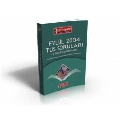 Eylül 2004 Tus Soruları Açıklamalı