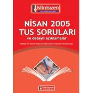 Nisan 2005 Tus Soruları Açıklamalı