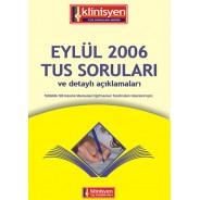 Eylül 2006 Tus soruları Açıklamalı