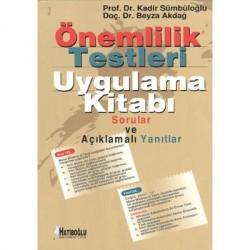 Önemlilik Testleri Uygulama Kitabı