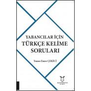 Yabancılar İçin Türkçe Kelime Soruları