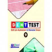 DENTTEST DUS İÇİN AÇIKLAMALI 12 Deneme Sınavı ( 9.CİLT )