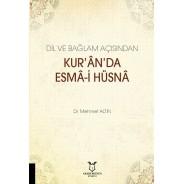 Dil ve Bağlam Açısından Kur'ân'da Esmâ-i Hüsnâ